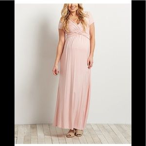 Pinkblush Maternity Pink Maxi Dress size M